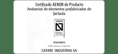 Certificado AENOR de Producto